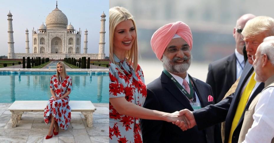 Ivanka Trump repeats her outfit in Delhi