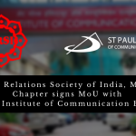 Public Relations Society of India, Mumbai Chapter signs MoU with St. Pauls Institute of Communication Education